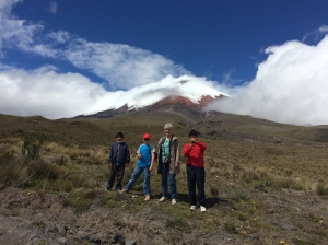 With Quishpe family at Cotopoxi