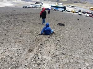 Seth sliding down